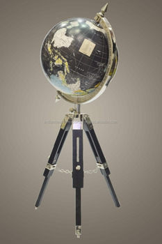 Modern Marine World Globe For Office Desk Decor Decorative Globe With  Wooden Folding Stand