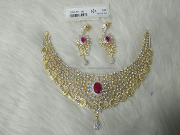 313e6f84441 Regular wear or gifting purpose american diamond set for women with earrings  for women- wholesale