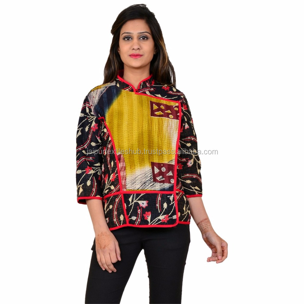 Latest design pure cotton hand made indian vintage jacket for women