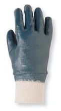 Sandy Nitrile Coated Gloves, Glove Size: M, Blue/White