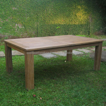 Teak Outdoor Double Extension Table Vxt Buy Extension - Teak extension table outdoor