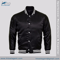 Custom wholesale 100% polyester satin varsity bomber baseball jacket winter men jacket HE-SVJ-2217