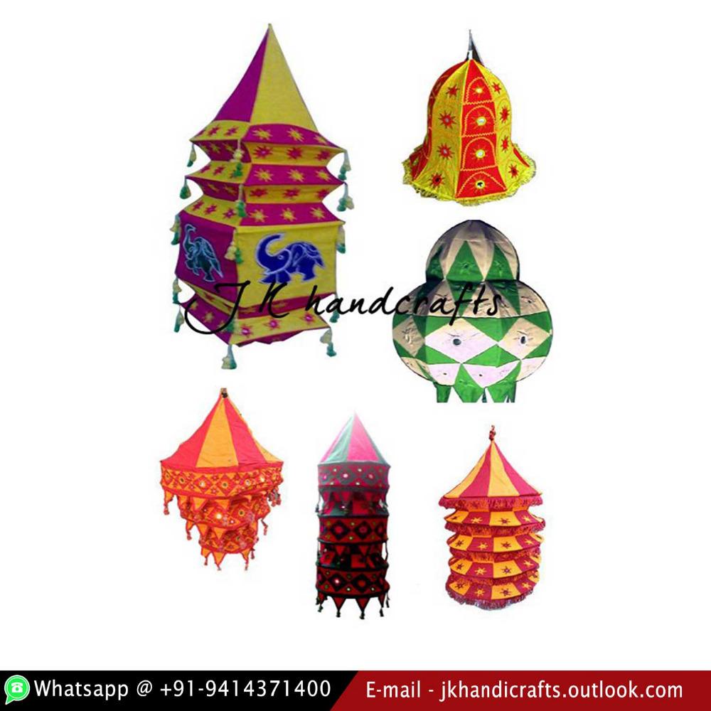 Tribal Fabric Hanging Lanterns Lamps