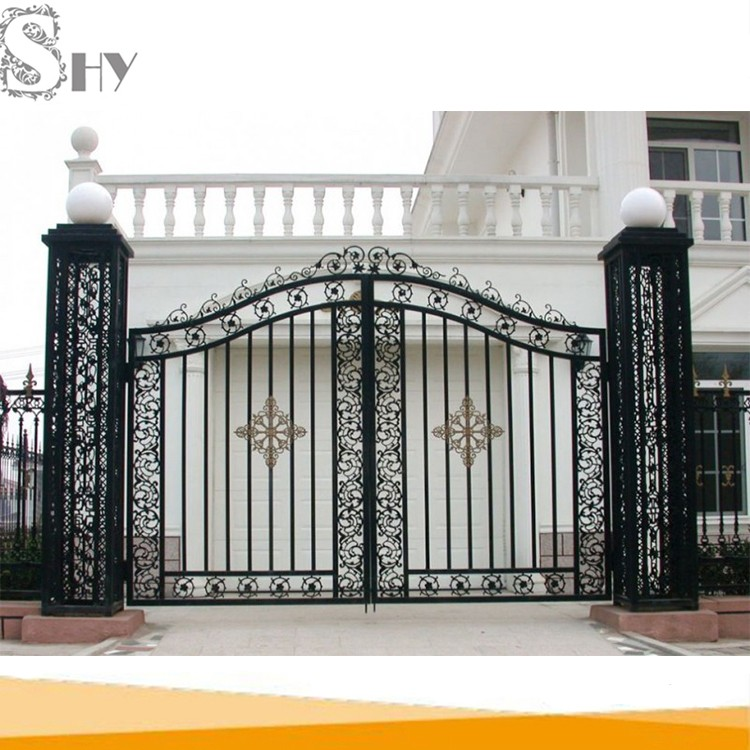 House Outdoor Entrance Small Morden Flower Simple Wrought Iron Main