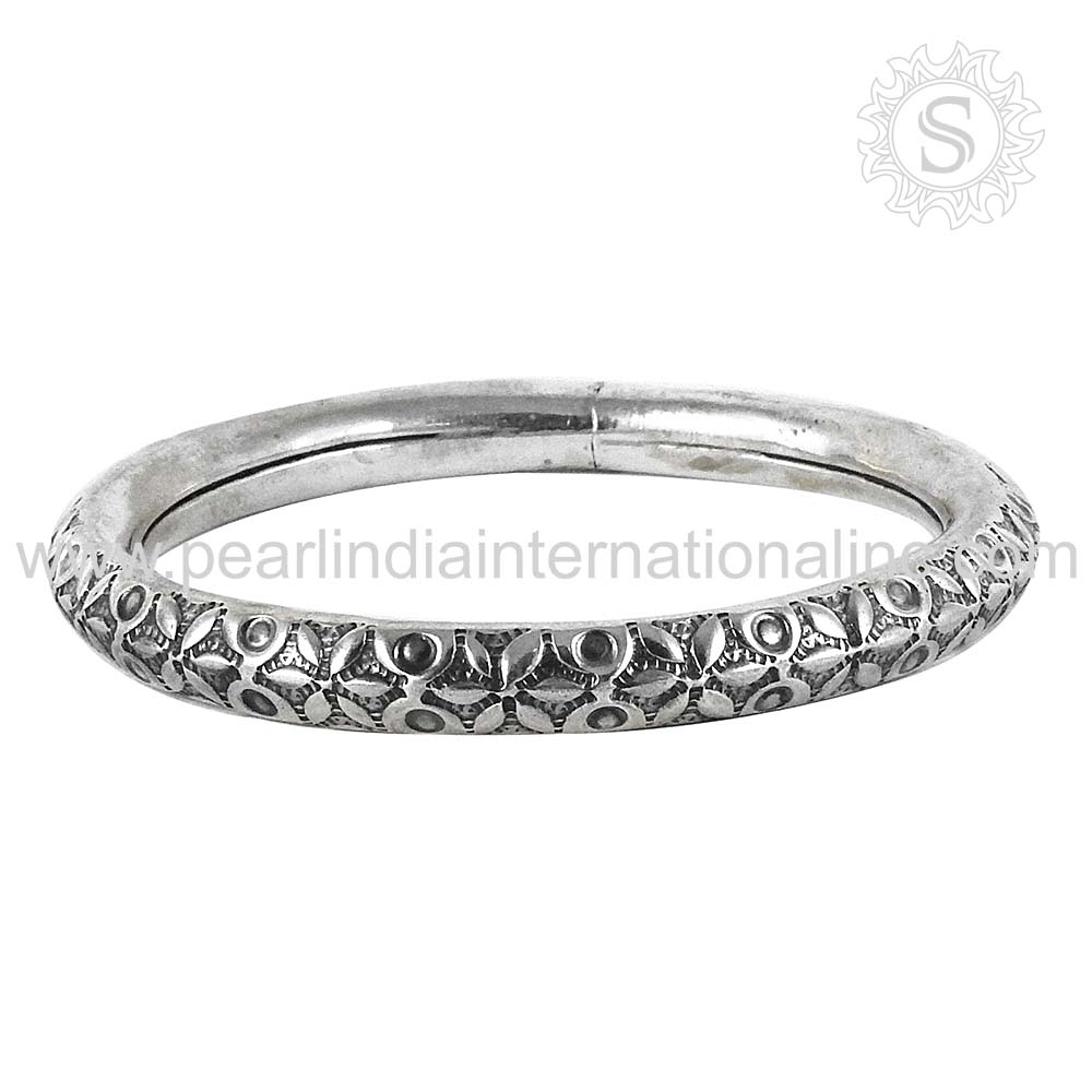 products heart plain mahak bracelet bangle jewelry bangles sterling silver