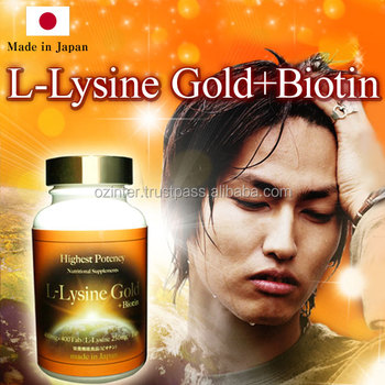 High Quality Solution To Hair Loss L Lysine Gold Biotin Made In Japan