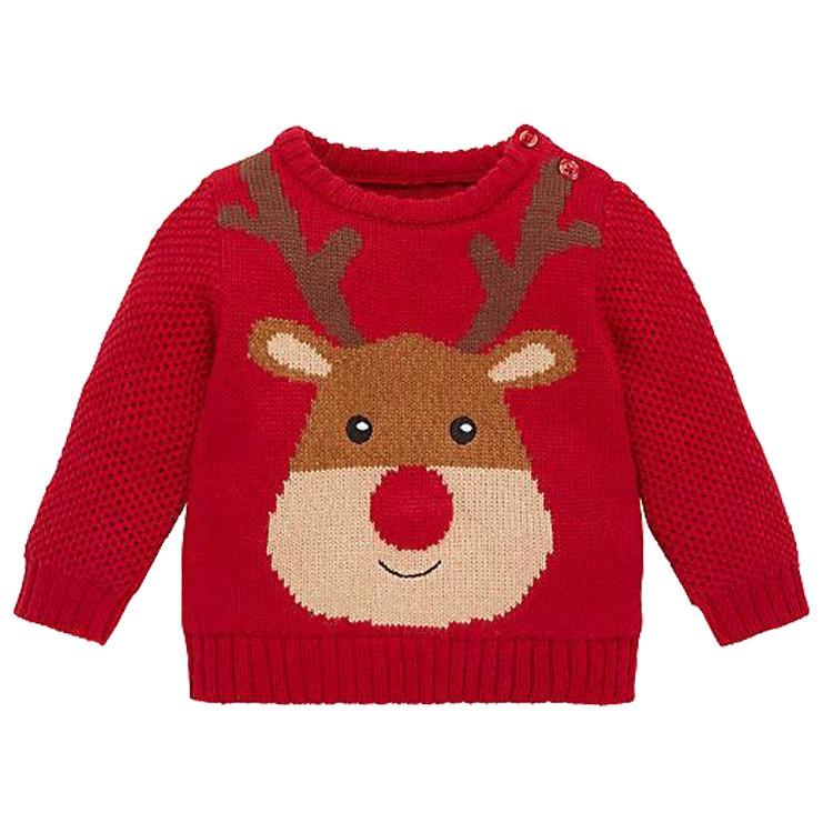 Baby Kersttrui.Factory Custom Baby Kleding Groothandel Prijs Baby Kerst Trui Met