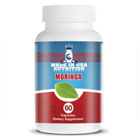 Private Label Moringa Oleifera (Leaf) Powder 1200mg Moringa Capsules