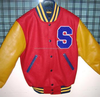 Polo Wool Varsity Jacket\club Leather Varsity Jackets\sublimation Custom  Men\american Wool Varsity Jackets - Buy Adult Classic Yellow Leather  Sleeves