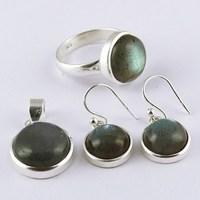 Online Sale !! Blue Fire Labradorite 925 Sterling Silver Set, Wholesale Gemstone Sets, 2016 Fashion Silver Jewelry