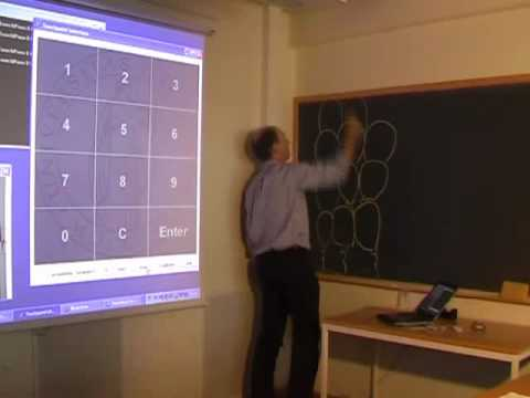 Touch sensitive blackboard