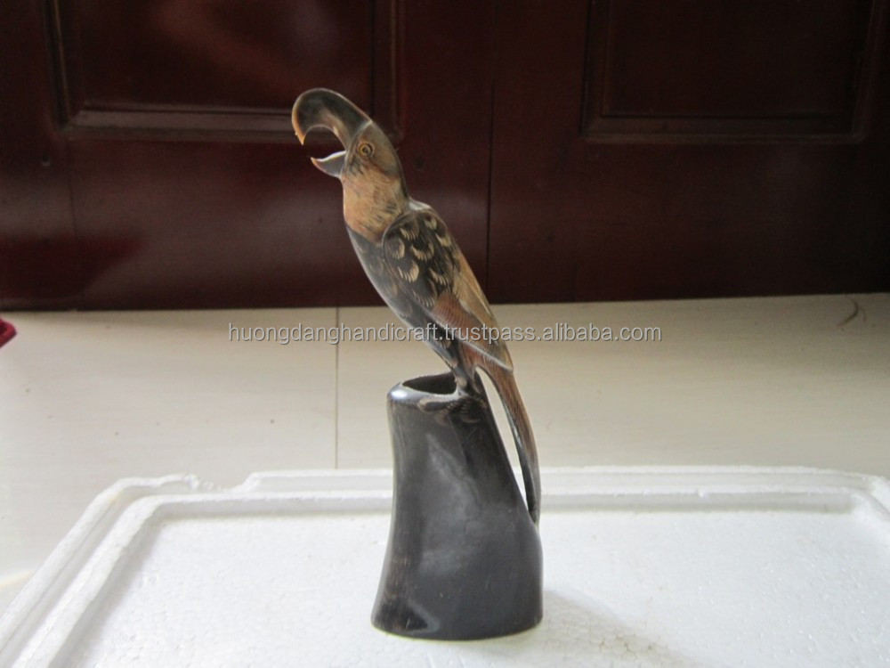 Buffalo horn Bird, gift for your friend, decor on the coffee table, home design
