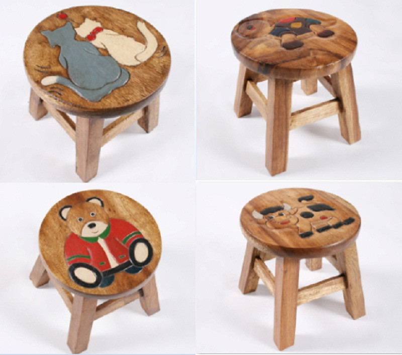 Wooden Childrens Stool Childrens Wooden Footstools Wooden