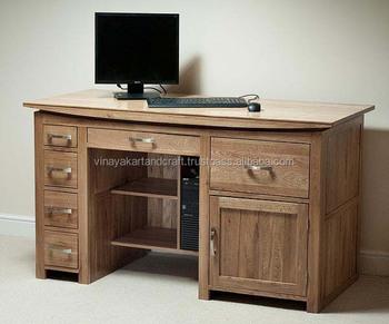 Italien naturel conception de bureau en bois rose ordinateur de