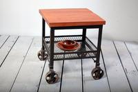 Industrial Boston Eagle Locker Room Side Table With Wheels