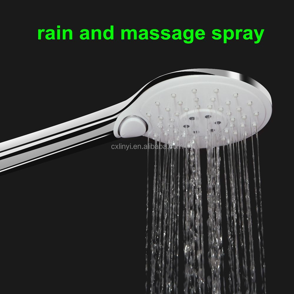 china suppliers wholesale bathroom faucet tap accessories push button plastic water tap handheld shower head
