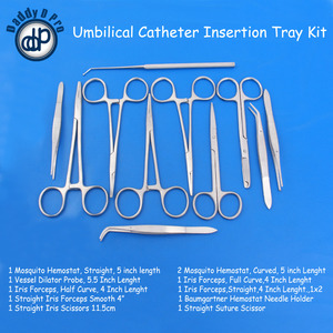 UMBILICAL CATHETER INSERTION TRAY KIT