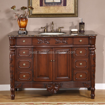 Large Size Bathroom Wooden Vanity