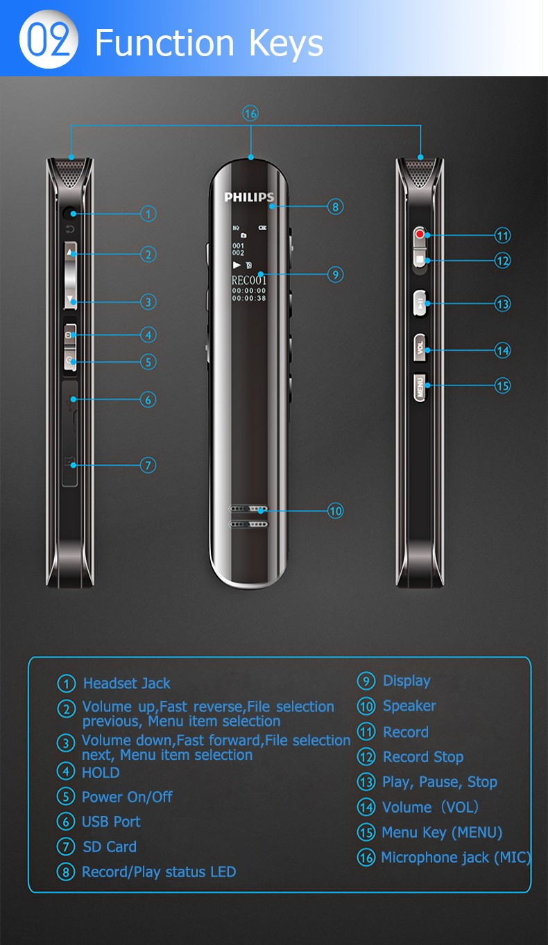 8GB Voice Recorder like Pen Wireless Microphone different color for meeting