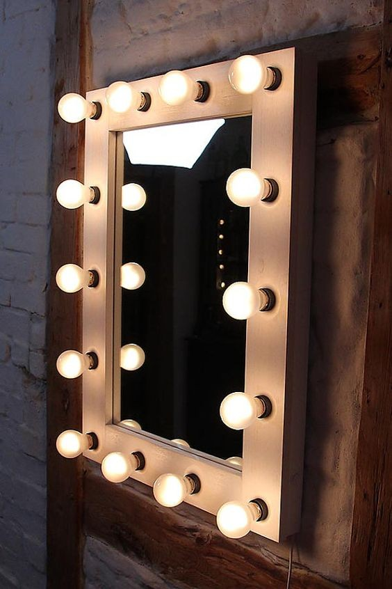 Black White Color Hollywood Vanity Mirror With Lights