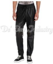 Men Fashion Leather Trousers