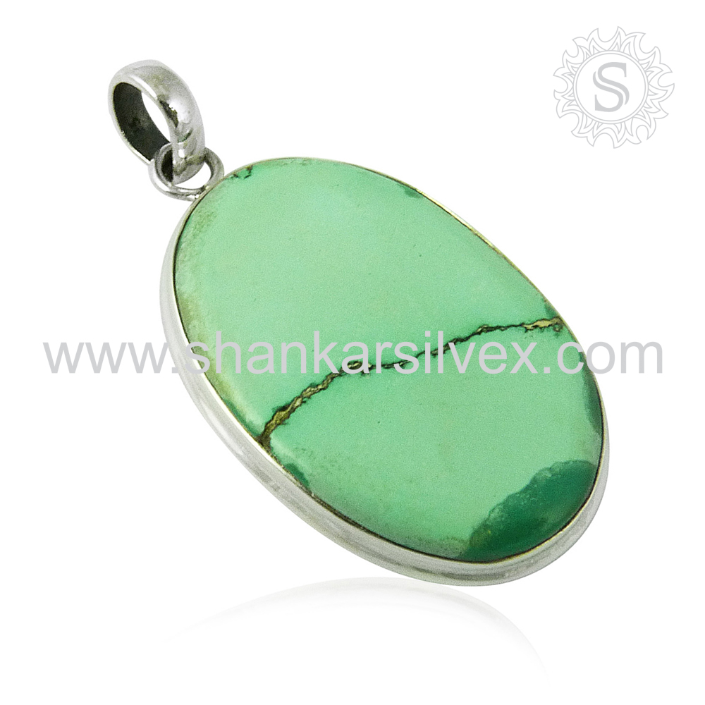 Top Quality Silver Jewelry Turquoise Pendant Gemstone 925 Sterling Silver Wholesaler