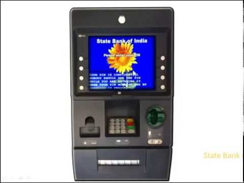 SBI ATM: Cash withdrawal through Automated Teller Machine.