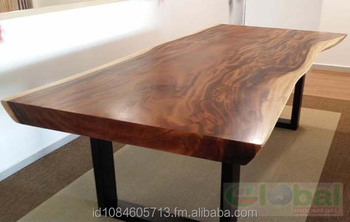 Live Edge Acacia Wood Dining Table Natural Slab Suar Product On Alibaba