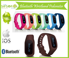 Wristband & Belt Clip Design Pedometer, Bluetooth , Compatible With iOS Android, SIFIT-9.5