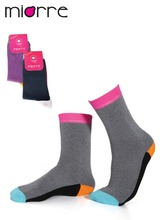 Miorre OEM Women's Customized Fashion Colorful Ankle Cotton Quality Socks