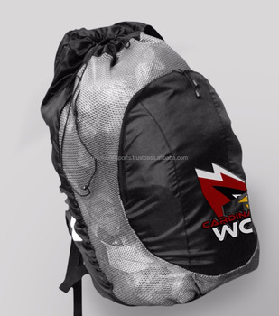 Whole Customized New Design Mesh Bag With Dual Closure Travel Gym