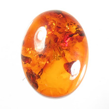 Natural Pressed BALTIC AMBER Oval Cabochon gem stone Loose For making Jewelry earrings pendant