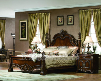 Charmant American Traditional Style Walnut Color Bedroom