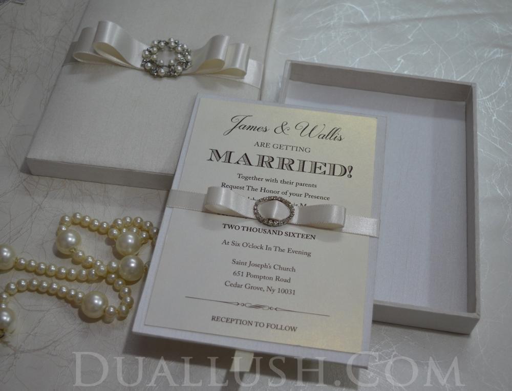 Buy Wedding Invitations: Elegant Wedding Invitation Box Wholesale Wedding