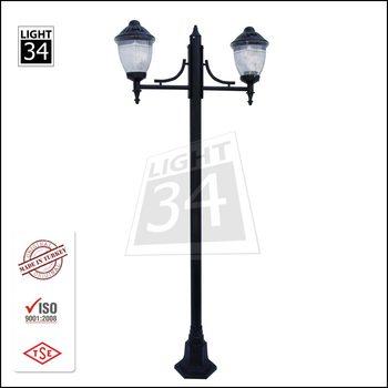 Cast Aluminum Exterior Lamp Post Polycarbonate Armature Street ...