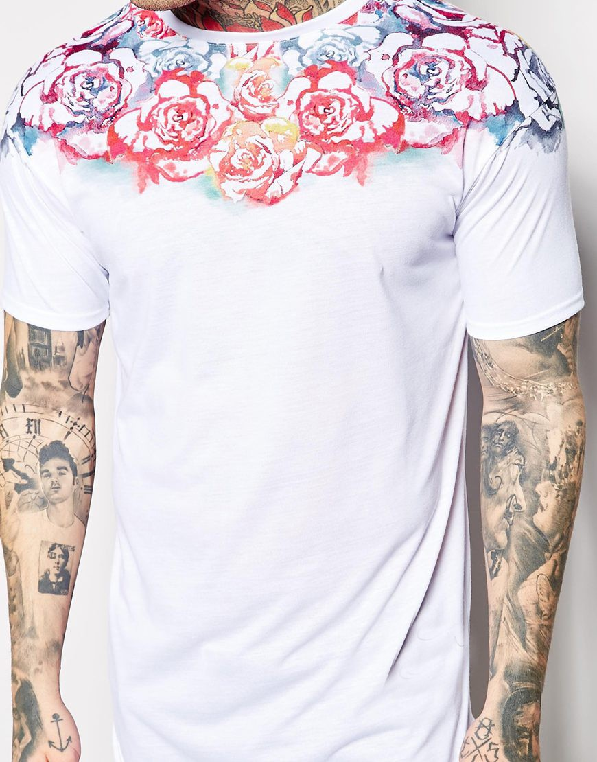 curved hem tee oversized dry fit extended longline men custom t shirt printing