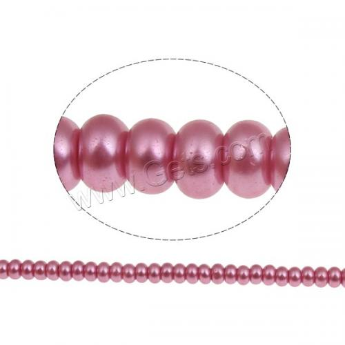 Hot sale glass pearl beads jewelry making beads bulk bead rondelle rim crow roller stoving varnish bright rosy pearl 948418