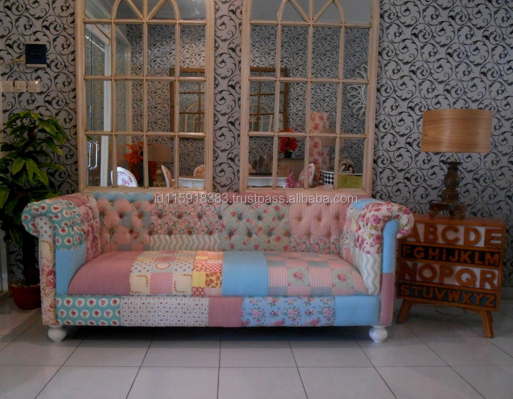 Patchwork chesterfield sofa walton patchwork chesterfield for Patchwork couch