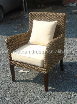 Water Hyacinth Arm Chairs, Water Hyacinth Furniture Vietnam