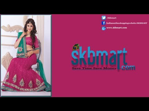 SKBmart.com Bridal Lehenga Choli Designs Collection Sky Blue Red Sale Price Online Store Shopping