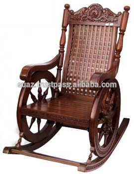 Carving Swing Chair Antique Wood Carved