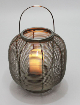 Wire Pillar Candle Holder 593