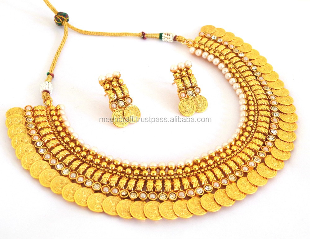 Indian Temple jewellery - Indian jewelry - imitation jewellery - One gram  jewellery - ladies Temple Necklace set, View indian bridal necklace set,