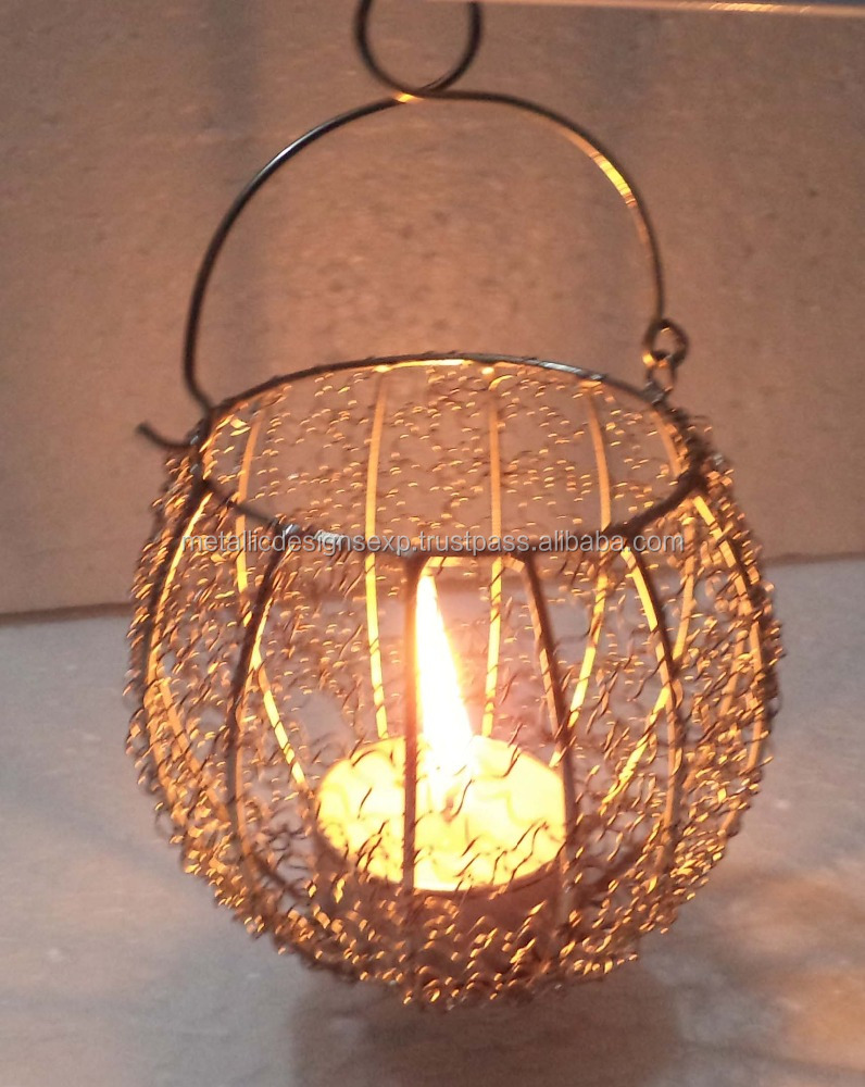 Exclusive Wire Basket t light holder