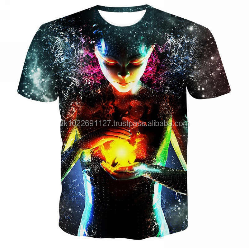 3D Digital Sublimation Printing full T-Shirt/ Custom 3D Sublimation Printing Short Sleeve T-Shirt/ Tees