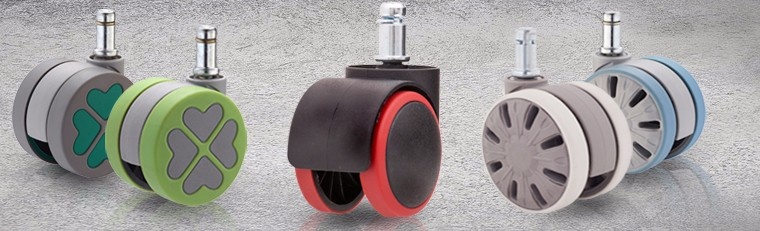 "ENJOY CASTER 2.5"" Replacement Plastic Toy Wheels Floor Jack Casters"