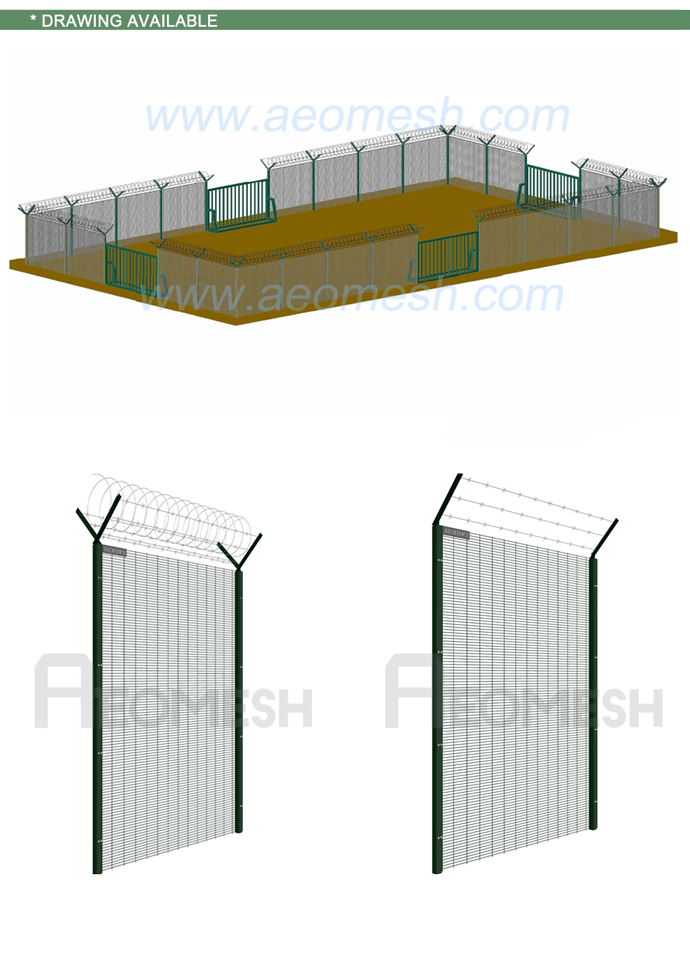 Made In Guangdong philippines gates and fences Heat Treated Fencing, Trellis & Gates double wiremesh fence with sliding gate