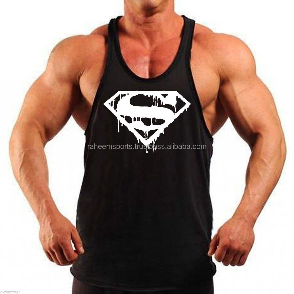 Mens Shirts Gym Tank tops Fitness wear Workout Clothing