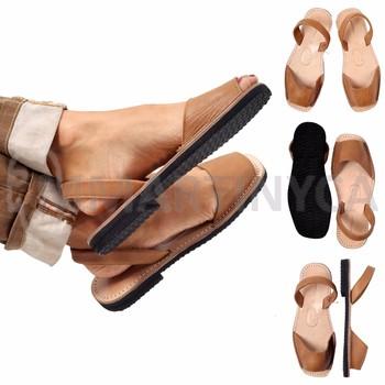 Aus Echtem Avarca Mmartinyca Sandale Sandalen Leder Spanische Camel xrBedCo