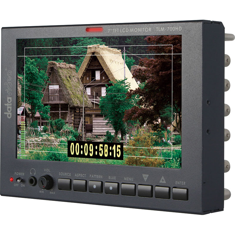 "Datavideo TLM-700HD [7"" SD/HD LCD Monitor with V-Mount Battery Adapter]"